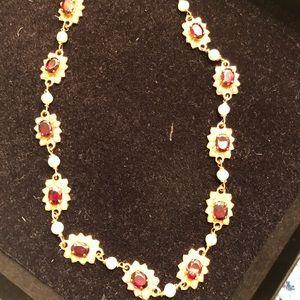 Jewelry - Italian Renaissance Semi precious garnet necklace